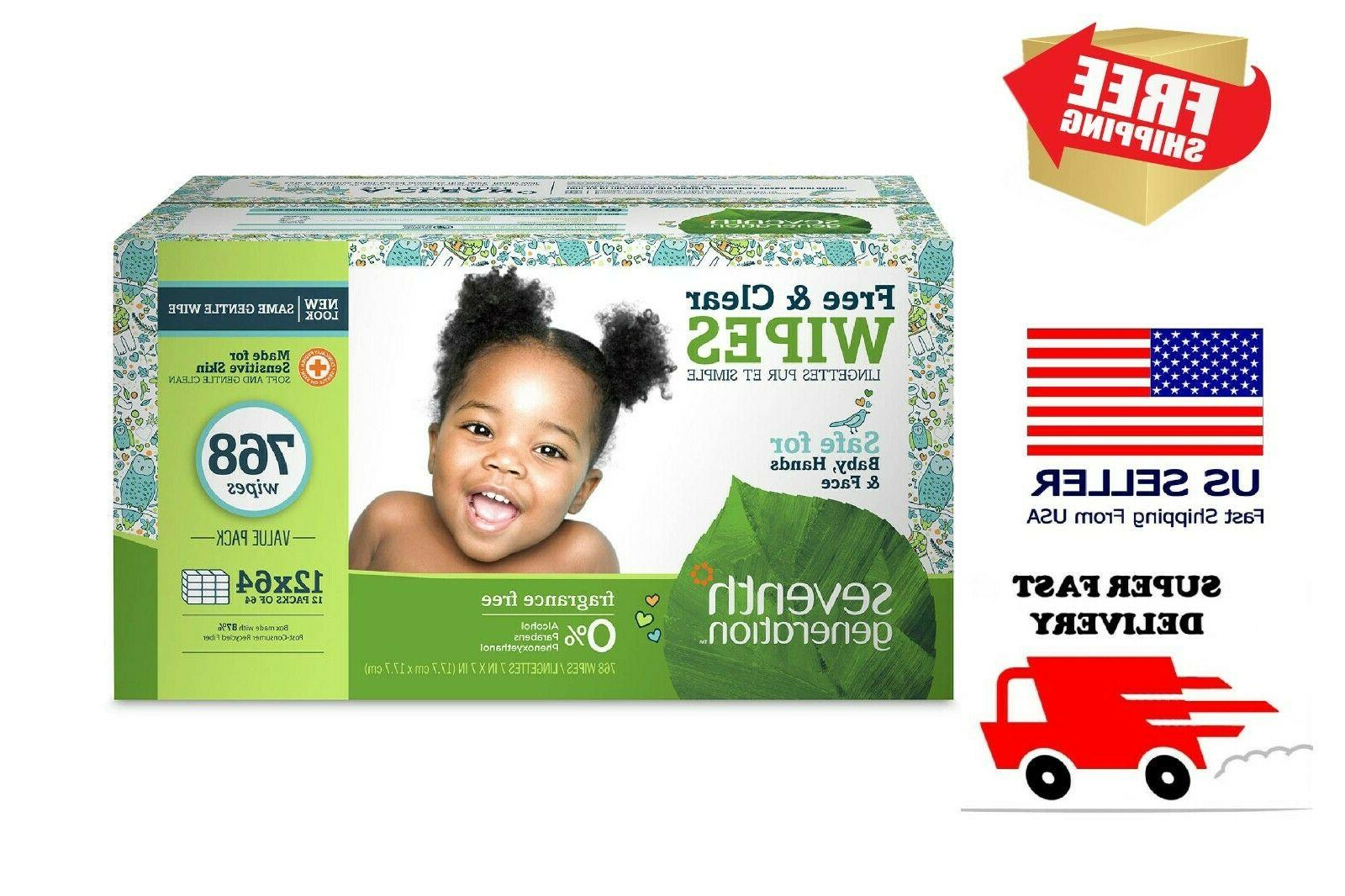 free and clear baby wipes unscented 768