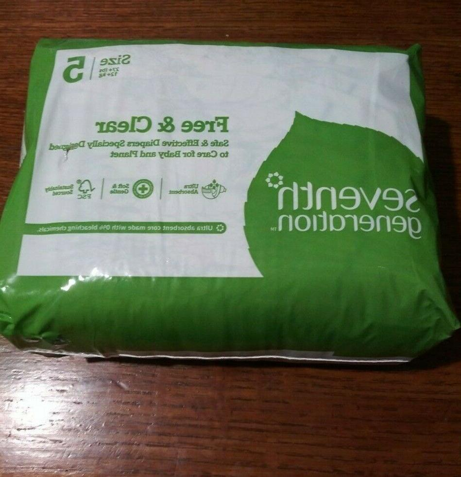 free and clear ultra baby diapers size