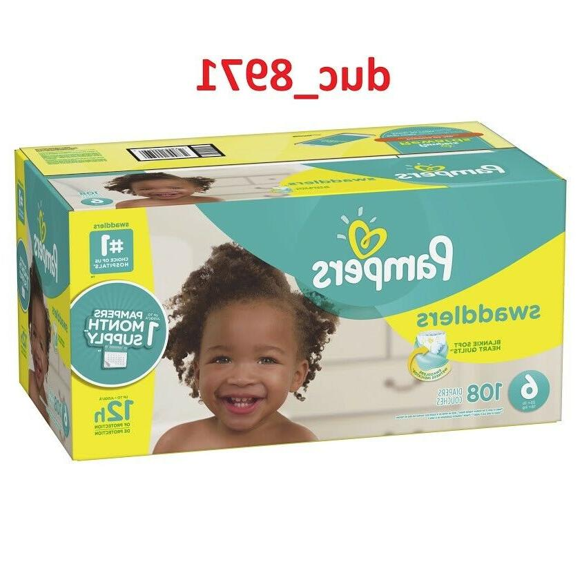 freeshipping swaddlers diapers size 6 108 count