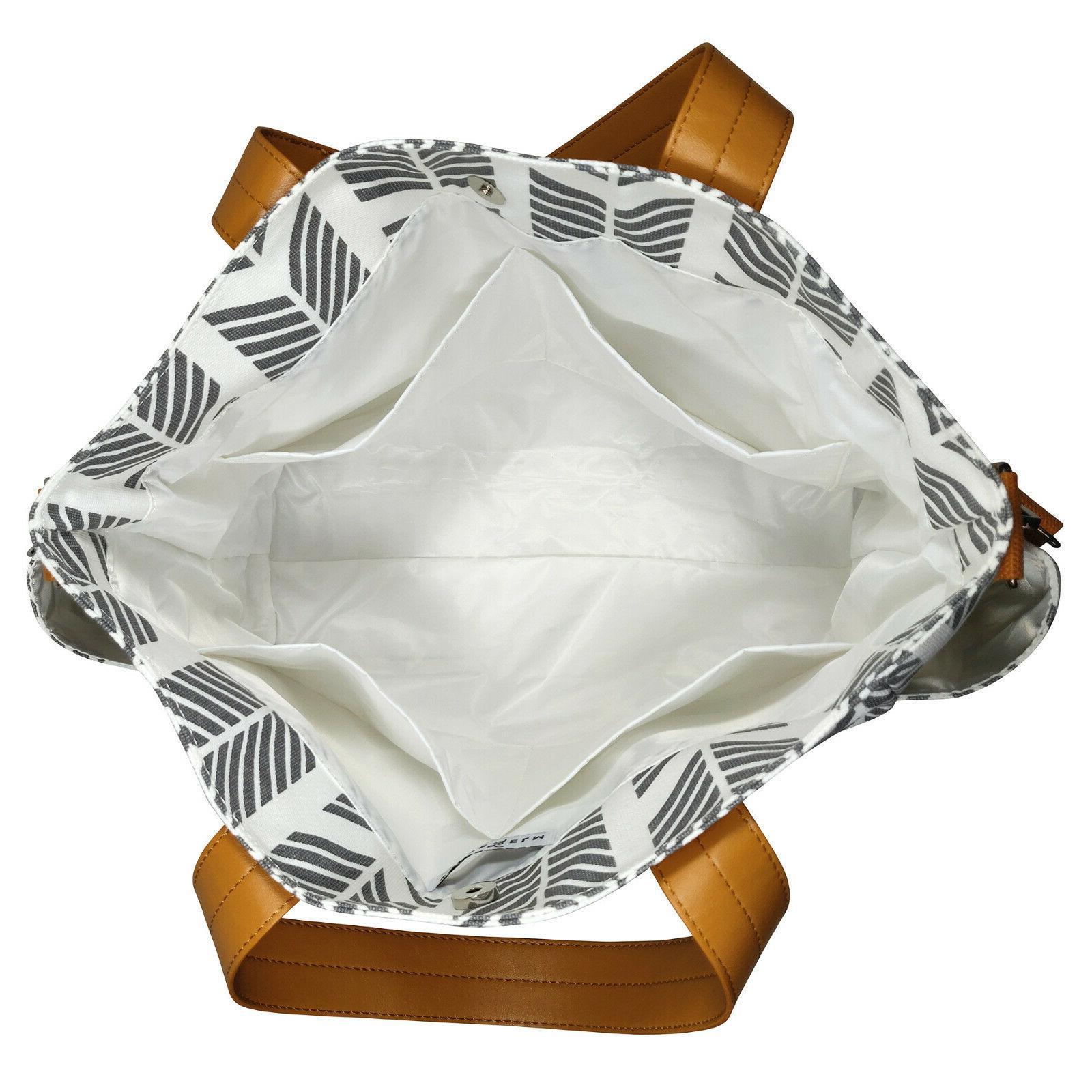 Gray Arrows Bag White - Large Overnight Bag