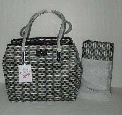 KATE SPADE Harmony Baby Diaper Bag Signature Black Cream Tot