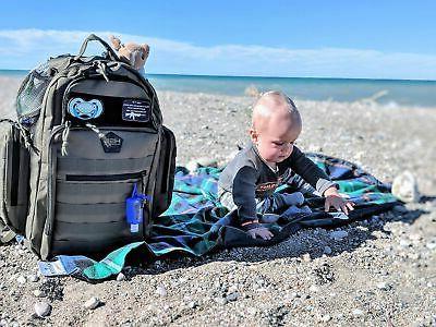 HSD Dad Diaper Backpack, Mat, Wipes & Bottle