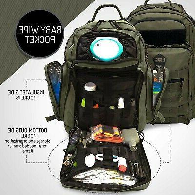 HSD Dad Bag Backpack, & Bottle Pockets,