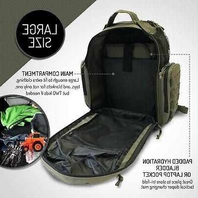 HSD Bag Backpack, & Bottle Pockets, Waterproof