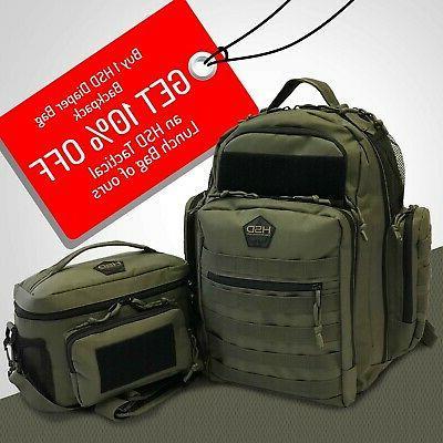 HSD Backpack, Changing Mat, & Pockets, Waterproof