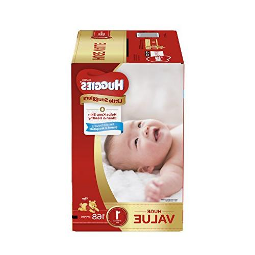 huggies little snugglers baby diapers size 168 count