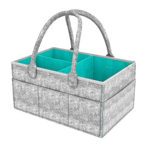 Infant Baby Bag Storage Bin Box Nappy US
