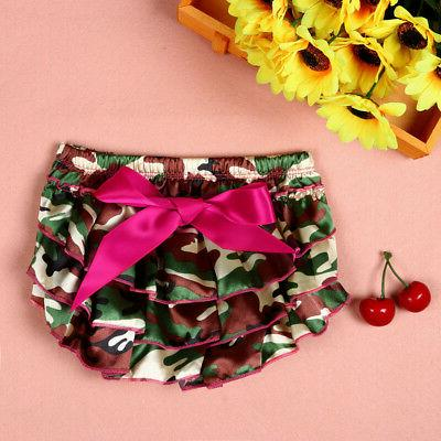 Infant Bowknot Panty Ruffle Bloomer Nappy Underwear