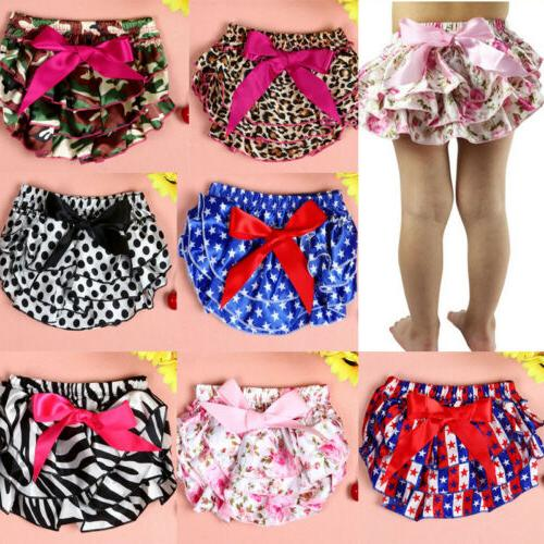 infant baby girls bowknot panty ruffle bloomer