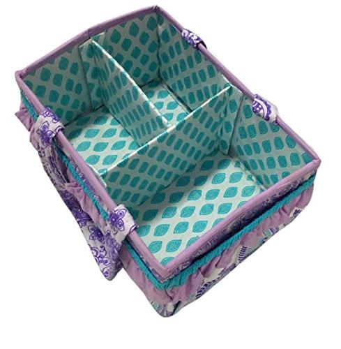 Bacati Nursery Fabric Storage with Handles,
