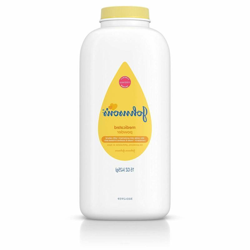 johnsons medicated diaper rash baby powder zinc