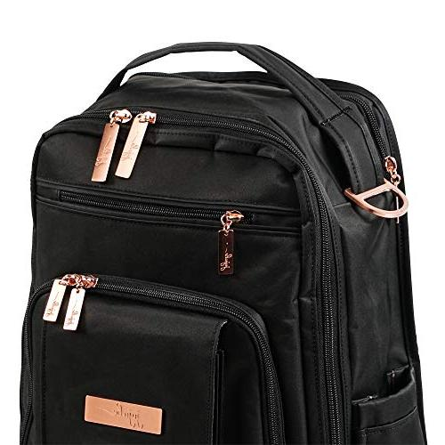 JuJuBe Multi-Funtional Structured Backpack/Diaper Rose Rose