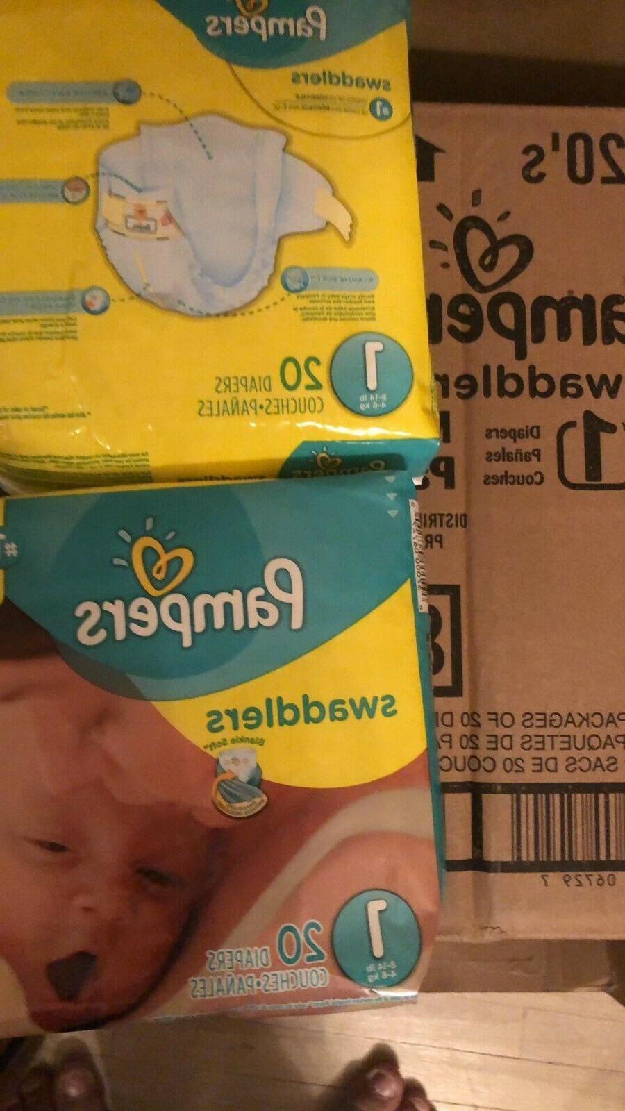 **JUMBO 240 BOX! Swaddlers SIZE 1 Factory Sealed- ea pack