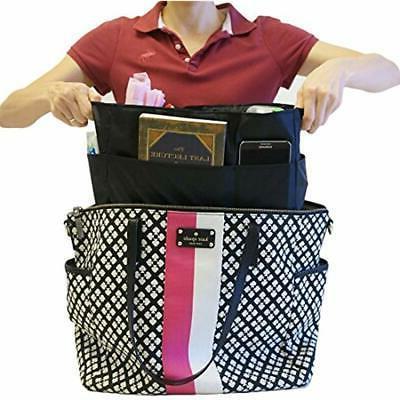 KF Baby Diaper Insert Organizer - X 6.4 8 Inch, Black Bags