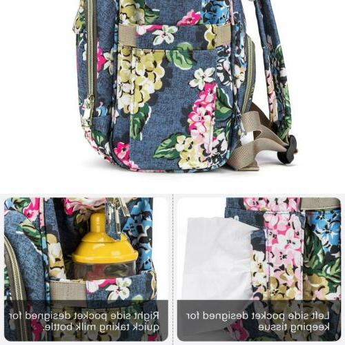 Large Diaper Bag Mum Backpack Nappy Changing Backpack