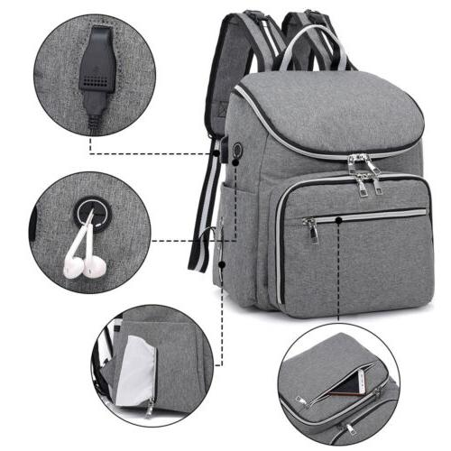 Large Baby USB Travel Backpack Makeup Cosmetic Bag