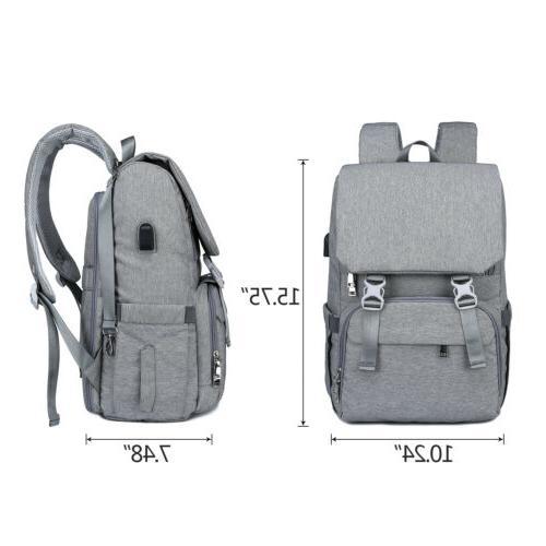 Large USB Backpack Waterproof Baby