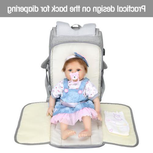 Large Bag USB Waterproof Baby Changing Design