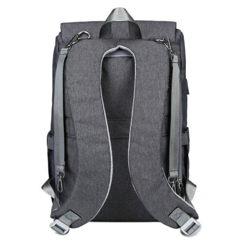 Large Mummy USB Travel Backpack Baby Nappy