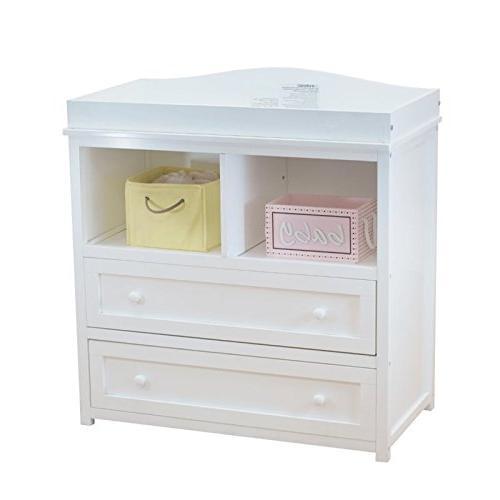 leila 2 drawer changer white