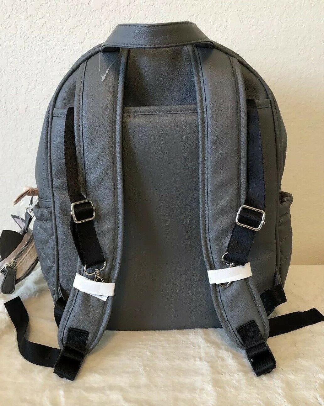BETSEY LEOPARD GRAY DIAPER BAG