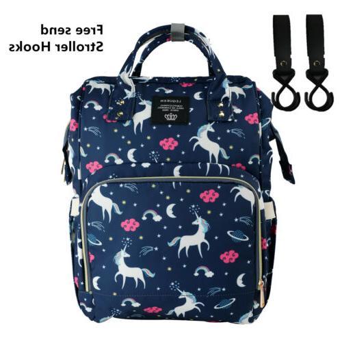 Diaper Backpack Unicorn Baby Travel Backpack Free Get Hook