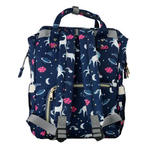Diaper Bag Backpack Large Capacity Unicorn Bookbag for Girl