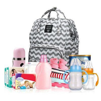 LEQUEEN Waterproof Baby Bag Maternity Travel