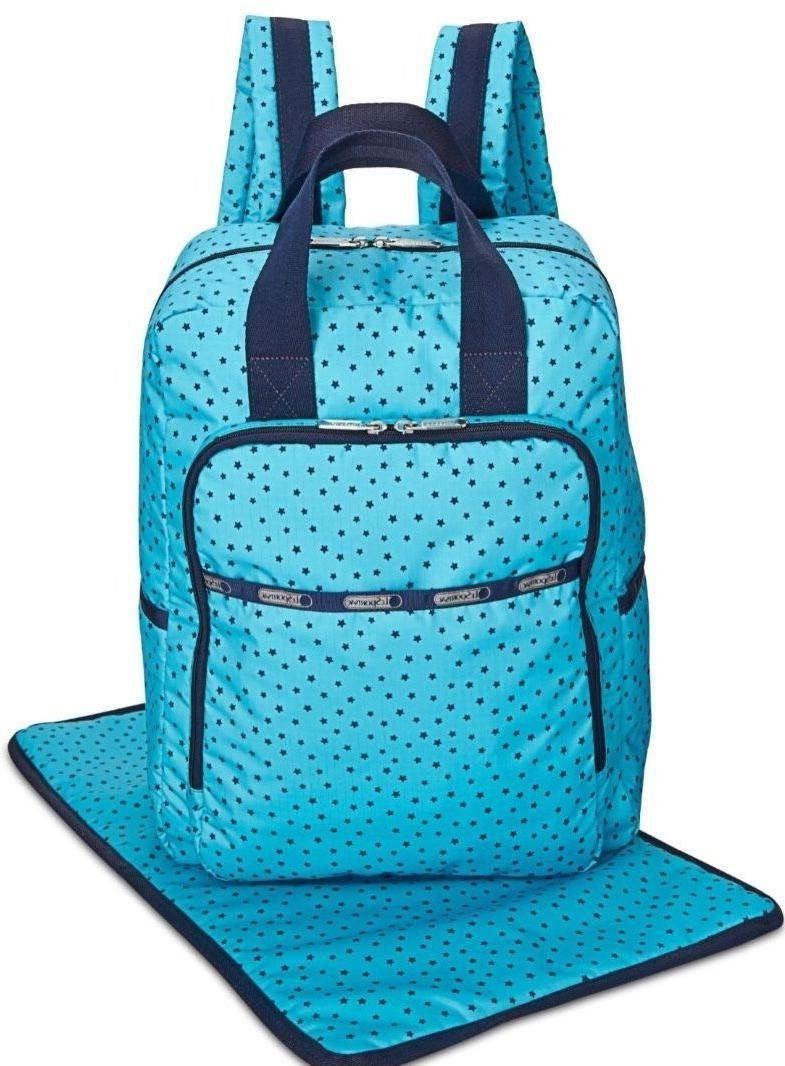 LESPORTSAC UTILITY DIAPER BAG BABY BACKPACK OVERNIGHT CHANGI