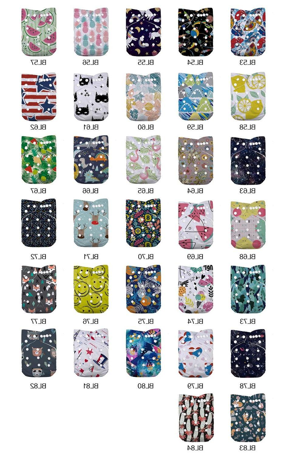 LilBit New Printed Design Washable Pocket Cloth <font><b>Diaper</b></font>