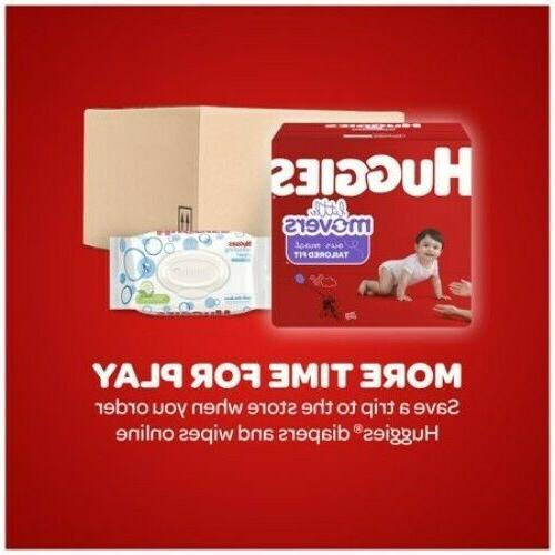 HUGGIES Diapers, Size 22-37 lbs Count FREE SHIPPING