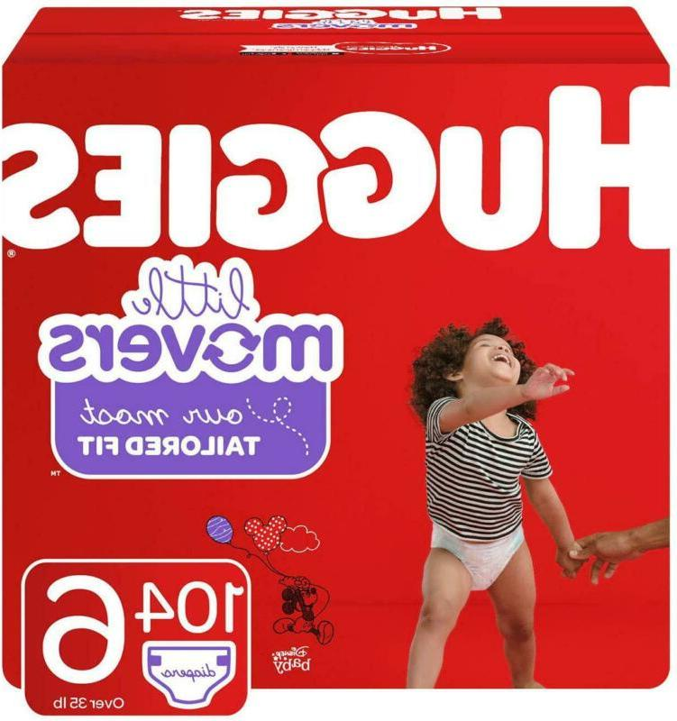 little movers baby diapers size 6 104