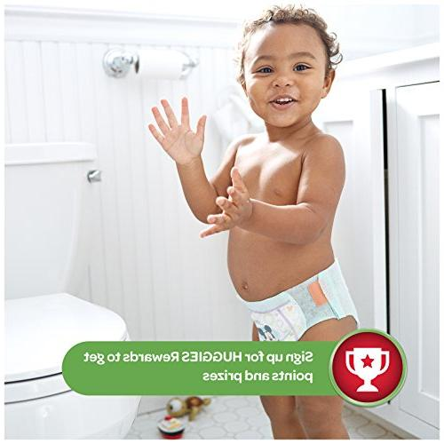 HUGGIES MOVERS Slip-On Baby Diapers, 128ct