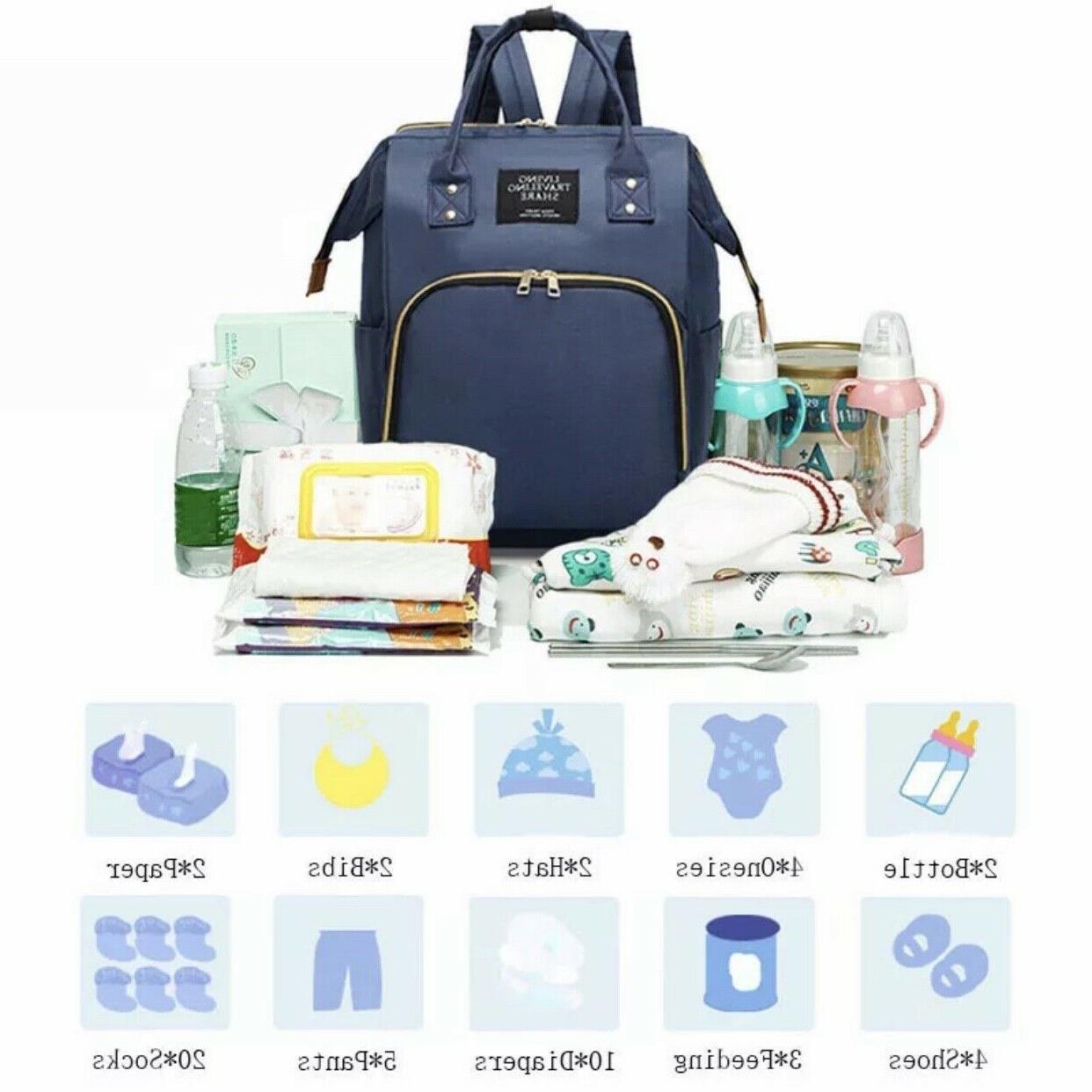 Living Traveling Diaper Multi-Function Waterproof Backpack