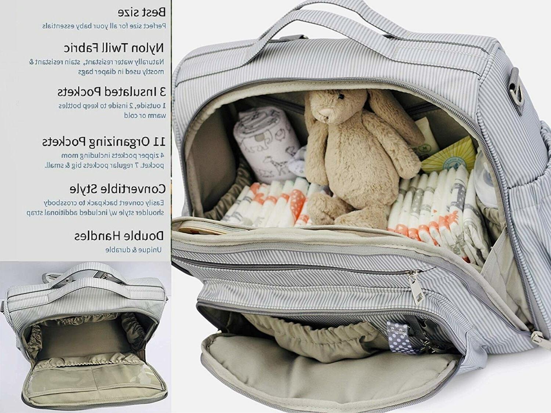 mama diaper bag backpack crossbody bag