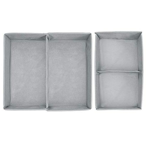 mDesign Fabric Closet Organizer Towels, - Set 8 Compartments,