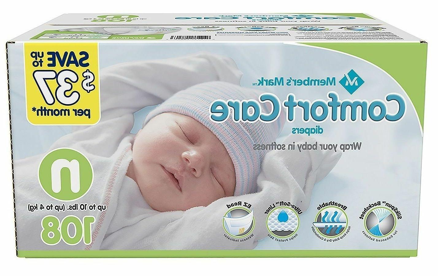 Member's Mark Comfort Baby To 10 Lbs Ct Flexible