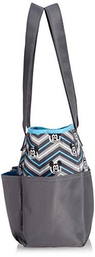 Disney Mickey Mouse Pocket Piece Bag Set, Grey/Blue