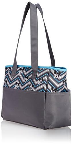 Disney Mouse Bag Print, Grey/Blue