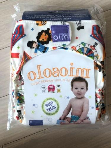 Circus time Bambino Mio Miosolo All-In-One Cloth Diaper Onesize