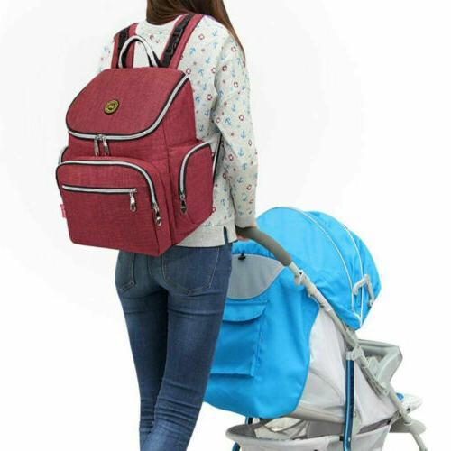 Multi-Function Waterproof Bag Travel Backpack Nappy Bags Change