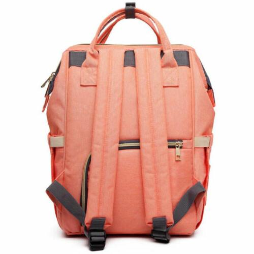 LEQUEEN Multifunctional Bag Diaper Backpack Waterproof