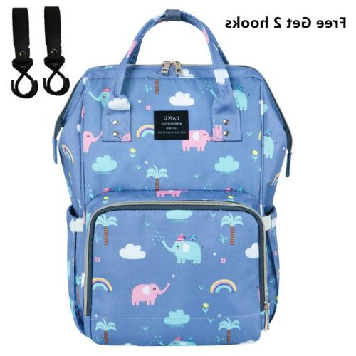 LAND Mommy Diaper Bag School Backpack Baby Tote