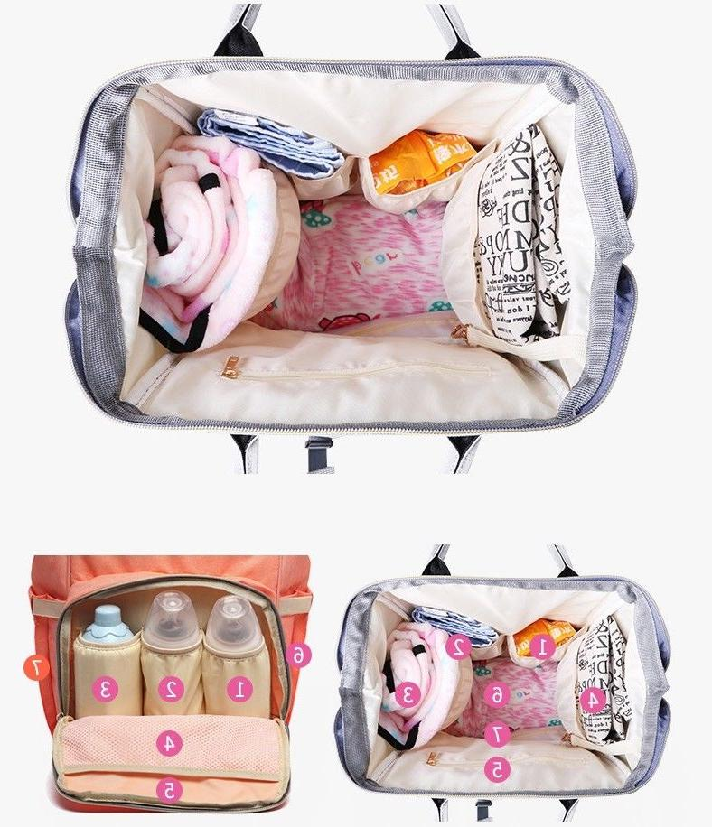 Mummy Backpack Capacity Nappy LEQUEEN Day
