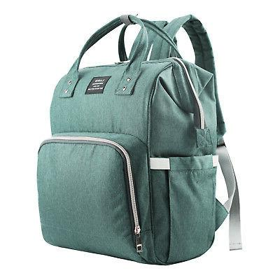 mummy diaper bag backpack light green