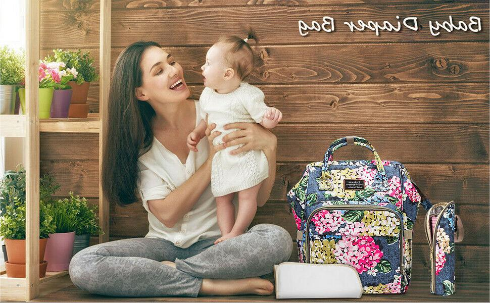 Mummy Maternity Nappy Diaper Big Nursing Backpack