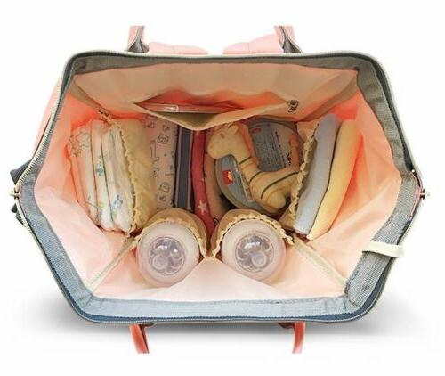 LAND-QUEEN Mummy Nappy Diaper Bag Capacity Baby Casual
