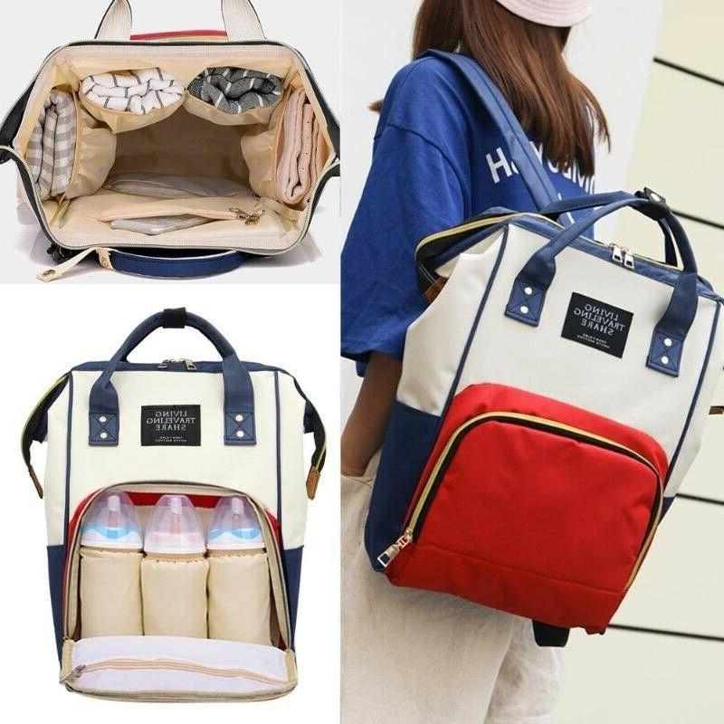 Mum Nappy Diaper Bag Capacity Bag Travel Backpack Handbags
