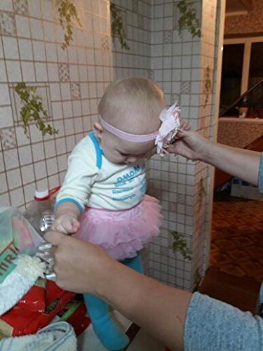 muyan Ruffle with Baby Bloomer Diaper and Headband )