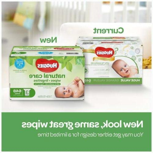 HUGGIES Natural Wipes Sensitive Unscented Water-Based